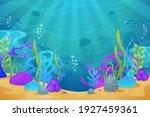 under the sea background.... | Shutterstock .eps vector #1927459361
