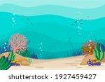 under the sea background.... | Shutterstock .eps vector #1927459427