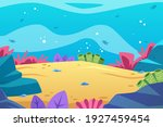 under the sea background.... | Shutterstock .eps vector #1927459454