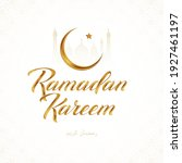 ramadan kareem vector greeting...   Shutterstock .eps vector #1927461197
