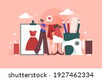 fashion designer. tailoring... | Shutterstock .eps vector #1927462334