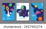 set of banner templates.... | Shutterstock .eps vector #1927501274