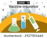 covid 19 vaccine insurance. ... | Shutterstock .eps vector #1927501664