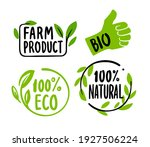 organic labels. fresh eco... | Shutterstock .eps vector #1927506224