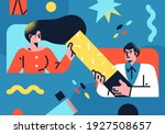flat style business people... | Shutterstock .eps vector #1927508657