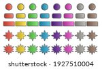 buttons of various 3d shapes... | Shutterstock .eps vector #1927510004