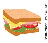 sandwich with cheese and... | Shutterstock .eps vector #1927530434