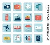 travel icons  flat design | Shutterstock .eps vector #192753119