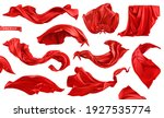 red curtain  superhero red cape ... | Shutterstock .eps vector #1927535774
