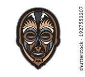 tiki mask in samoan style. good ... | Shutterstock .eps vector #1927553207