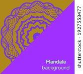 flower round mandala. vintage... | Shutterstock .eps vector #1927553477