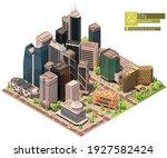 vector isometric city downtown. ... | Shutterstock .eps vector #1927582424