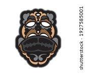 tiki mask in samoan style. good ... | Shutterstock .eps vector #1927585001