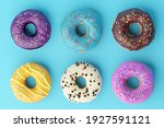 Assorted Donuts With Colorful...