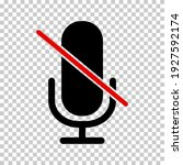 microphone crossed out icon....