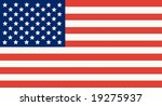 american flag isolated on white ... | Shutterstock . vector #19275937