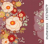 floral background  vector... | Shutterstock .eps vector #192760079