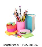Set of colorful school...