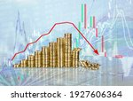 Small photo of traded finance diagram, funder change, trading, bitcoin falling concept.