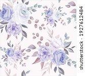 romantic flower seamless... | Shutterstock .eps vector #1927612484