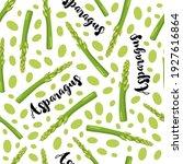 green asparagus seamless... | Shutterstock .eps vector #1927616864