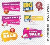 sale banner template design ... | Shutterstock .eps vector #1927619087