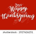 hand drawn thanksgiving... | Shutterstock .eps vector #1927626251