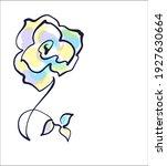vector handmade sketch digital... | Shutterstock .eps vector #1927630664