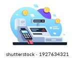 icon of cash machine for... | Shutterstock .eps vector #1927634321