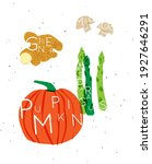 set of color vegetables with... | Shutterstock .eps vector #1927646291