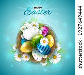 happy easter greeting card with ...   Shutterstock .eps vector #1927649444