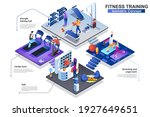 fitness training at gym... | Shutterstock .eps vector #1927649651