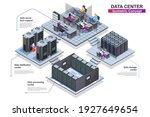 Data Center Interior Isometric...
