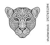African Leopard In Vintage...