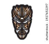 tiki mask in hawaiian style.... | Shutterstock .eps vector #1927652297