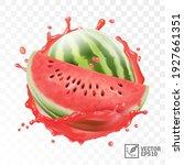 3d realistic transparent... | Shutterstock .eps vector #1927661351