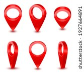 realistic detailed 3d red map... | Shutterstock . vector #1927664891