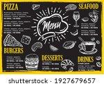menu template for restaurant.... | Shutterstock .eps vector #1927679657