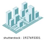 isometric city vector.smart... | Shutterstock .eps vector #1927693301