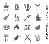 fish and meat bbq food fire... | Shutterstock .eps vector #192770021