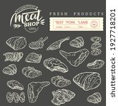 sticker of meat products. beef  ...   Shutterstock .eps vector #1927718201
