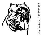 american bully dog  black... | Shutterstock .eps vector #1927729127