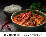 Spicy Thai Curry With Pork Meat ...