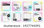 square fashion banners. sale... | Shutterstock .eps vector #1927744391