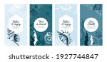 seashell posters. hand drawn... | Shutterstock .eps vector #1927744847