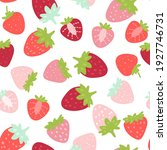 Doodle Strawberry. Vector...