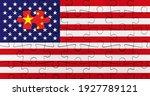 usa or american flag jigsaw... | Shutterstock . vector #1927789121