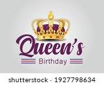 Queen's Birthday On White...