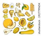 yellow. vector food. colored...   Shutterstock .eps vector #1927799654
