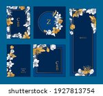 collection of hand drawn cards... | Shutterstock .eps vector #1927813754